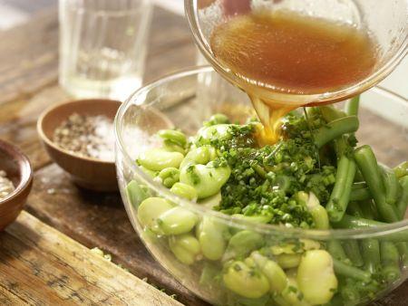 Bohnen-Birnen-Salat: Zubereitungsschritt 8