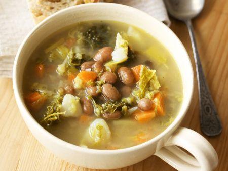 Bohnen-Gemüse-Suppe