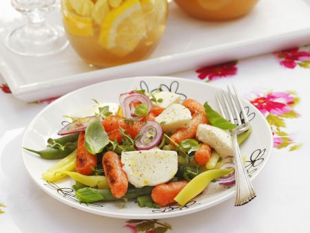 Bohnen-Karotten-Salat mit Mozzarella
