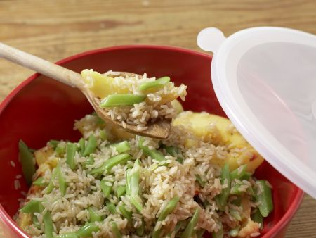 Bohnen-Reis-Salat: Zubereitungsschritt 8