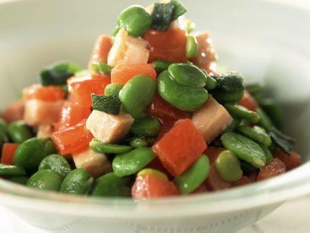 bohnen tomatensalat mit schinken rezept eat smarter. Black Bedroom Furniture Sets. Home Design Ideas