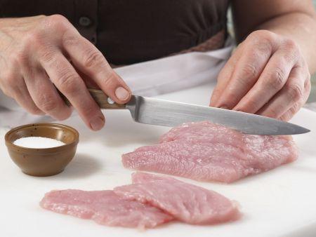 Bohnengemüse mit Schnitzel: Zubereitungsschritt 12