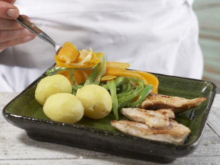 Bohnengemüse mit Schnitzel: Zubereitungsschritt 15
