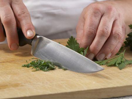 Bohnengemüse mit Schnitzel: Zubereitungsschritt 6