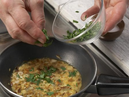 Bohnengemüse mit Schnitzel: Zubereitungsschritt 8