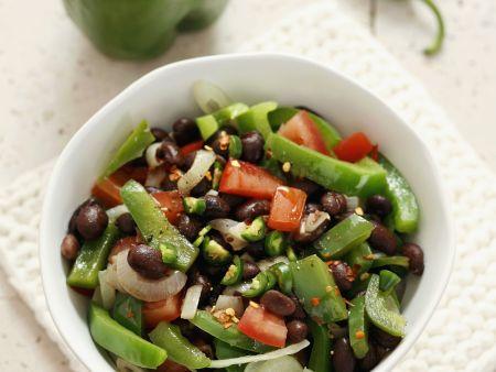 Bohnensalat mit Paprika