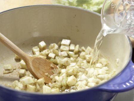 Bohnensuppe mit Quarkklößchen: Zubereitungsschritt 4
