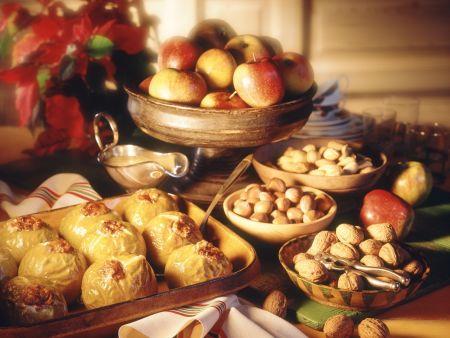 Rezept: Bratäpfel mit Marzipan