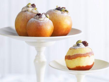 Rezept: Bratäpfel mit Ricotta gefüllt