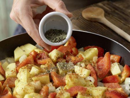 Braten mit Paprika-Kartoffeln: Zubereitungsschritt 11