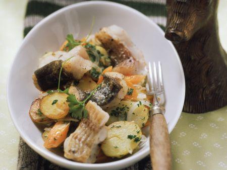 Bratkartoffel-Waller-Pfanne mit Karotten