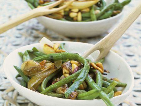 Rezept: Brechbohnensalat mit Schalotten