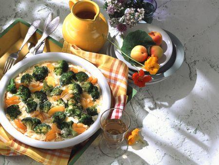 Brokkoli-Gratin mit Aprikosen