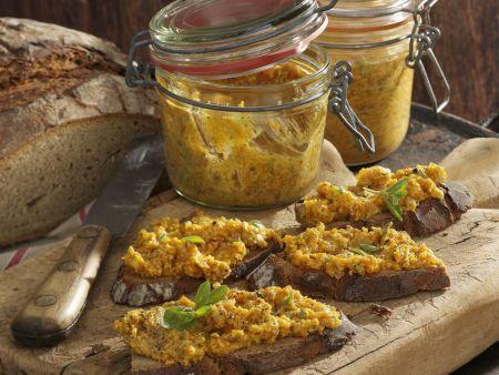 Brote mit Kürbis-Gänseschmalz-Creme