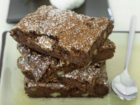 Brownies mit Zitronensorbet
