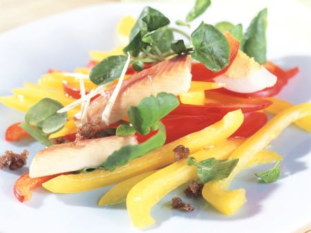 Brunnenkresse-Paprika-Salat