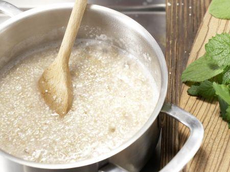 Buchweizen-Kräuter-Grütze: Zubereitungsschritt 1