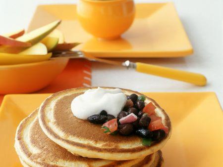 Buchweizen-Pancakes mit Bohnen