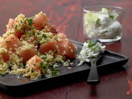 Bulgur-Melonen-Salat