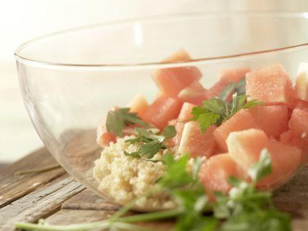 Bulgur-Melonen-Salat: Zubereitungsschritt 8