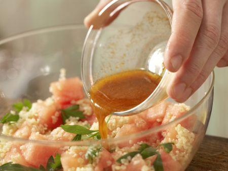 Bulgur-Melonen-Salat: Zubereitungsschritt 9