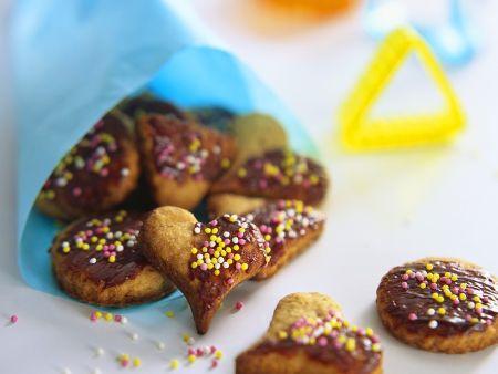 Bunte Honigkuchenherzen