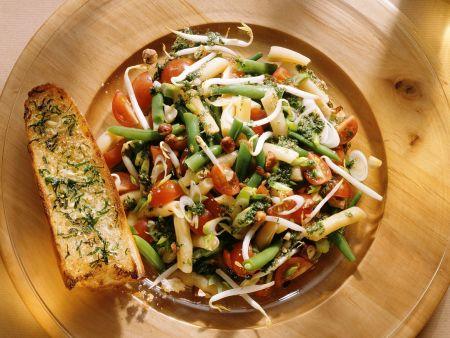 Bunter Bohnen-Gemüse-Salat