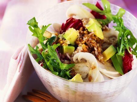 Bunter Salat mit Hafer