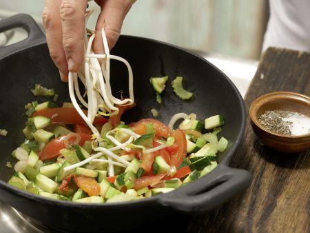 Buntes Wok-Gemüse: Zubereitungsschritt 5