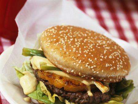 Burger mit Ananas