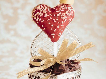 Cake Pop in Herzform