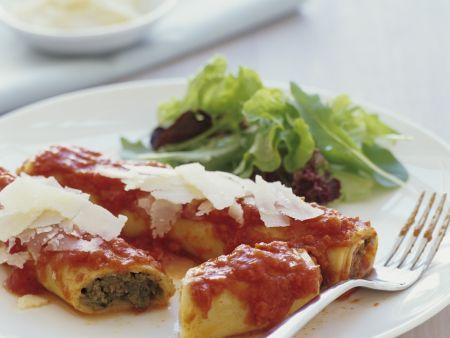 Cannelloni mit Rinderhackfleisch