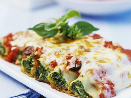 Rezept: Cannelloni mit Spinat