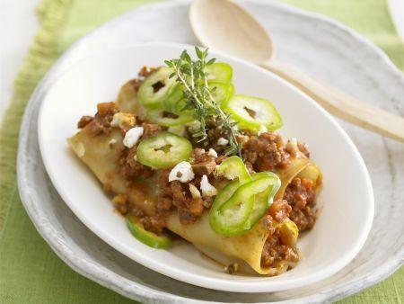 Cannelloni mit Spitzpaprika und Ziegenkäse