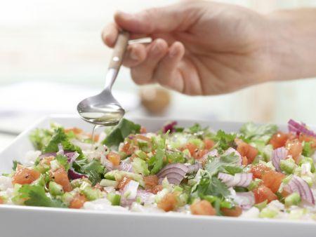 Ceviche von weißem Fisch: Zubereitungsschritt 8