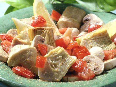 Champignon-Artischocken-Salat