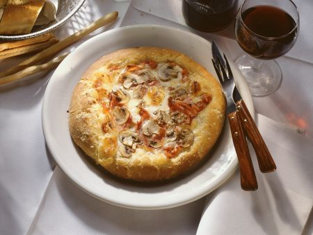 Rezept: Champignon-Pizza