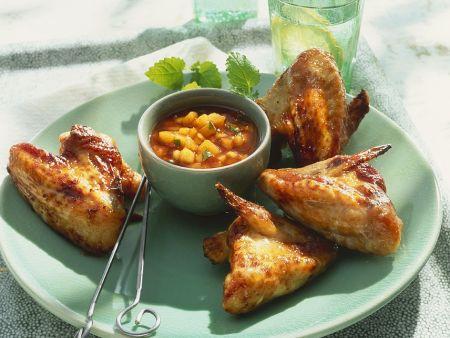 Chicken Wings mit Mangosauce