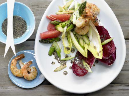 Chicorée-Garnelen-Salat