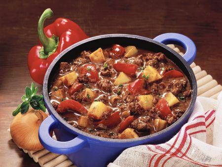 Chili con Carne mit Kartoffeln