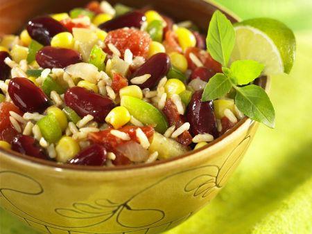 Chili sin Carne mit Reis (Chili ohne Fleisch)