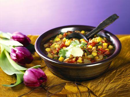 Chili sin Carne mit Sojabohnen
