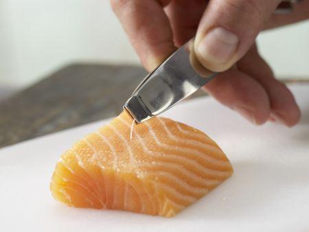 Chinakohl-Brei mit Lachs: Zubereitungsschritt 4