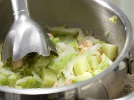 Chinakohl-Brei mit Lachs: Zubereitungsschritt 6