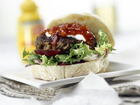 Ciabatta-Hamburger