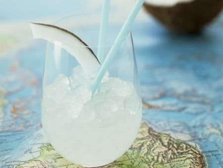 Cocktail mit Kokosmilch