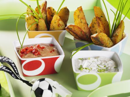 Country Potatoes mit Dips