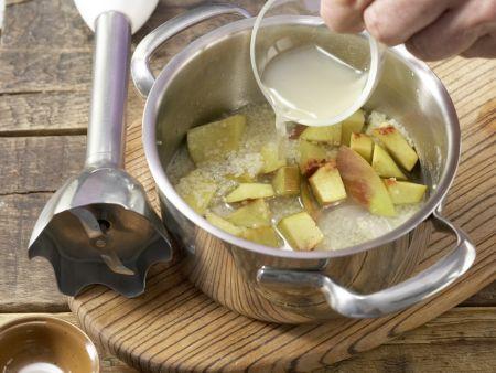 Couscous-Brei mit Pfirsich: Zubereitungsschritt 3