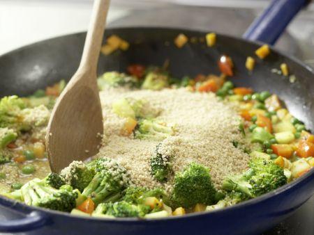 Couscous-Gemüse-Pfanne: Zubereitungsschritt 8