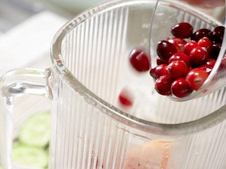 Cranberry-Melonen-Saft: Zubereitungsschritt 4